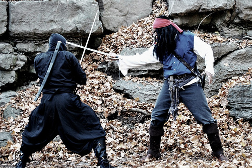 Pirates vs Ninjas – video shoot in Ottawa